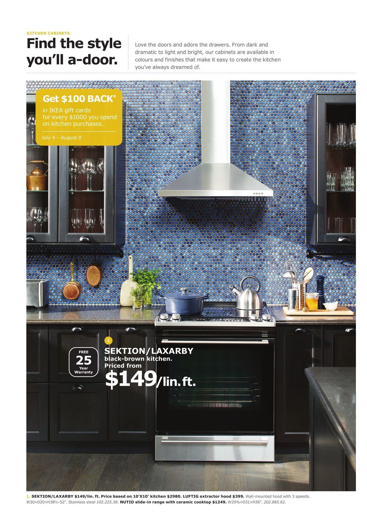simple ikea weekly flyer the kitchen event jul u aug with ikea kallarp cuisine. Black Bedroom Furniture Sets. Home Design Ideas