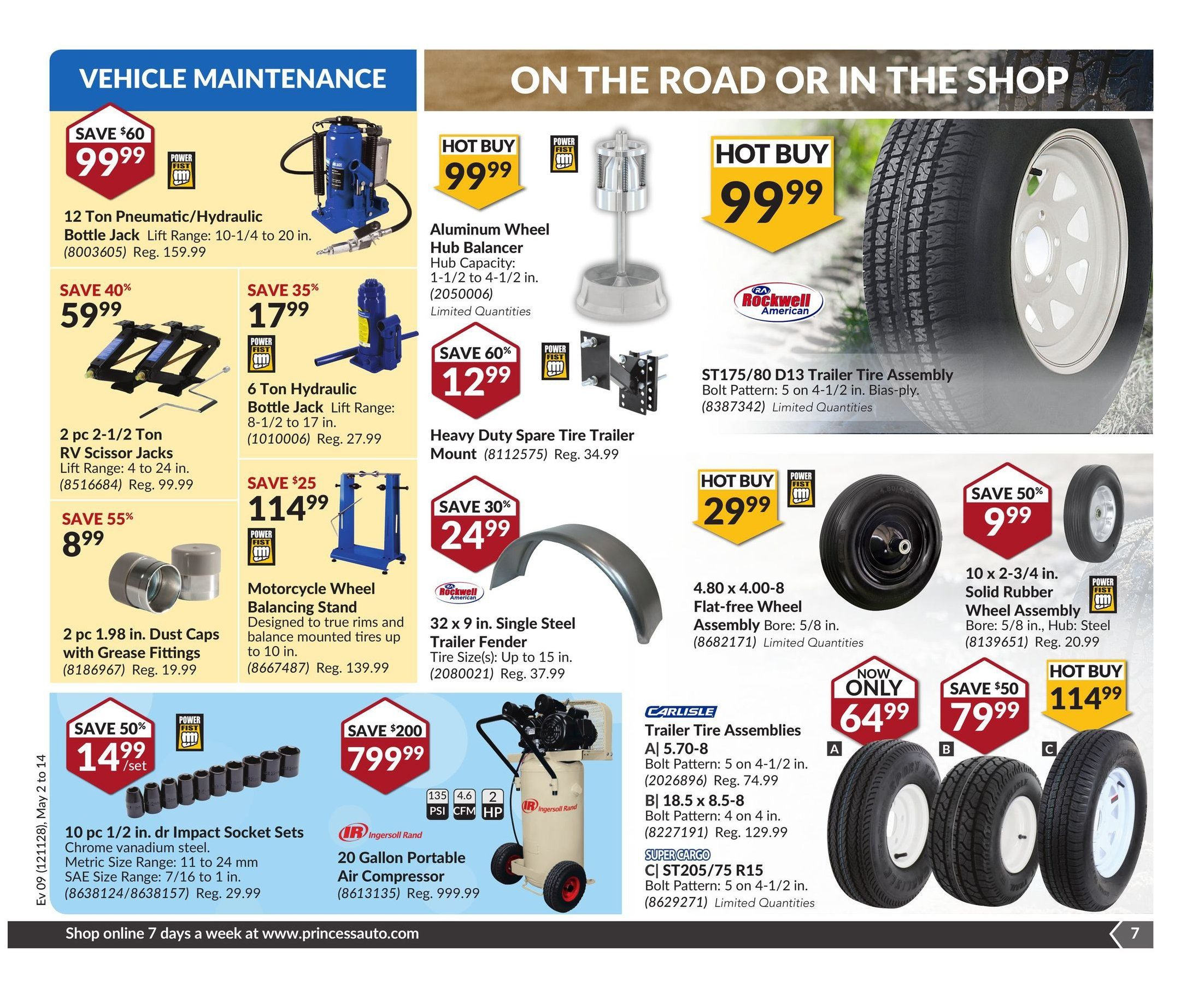 Princess Auto Weekly Flyer Sunny Spring Savings May 2 – 14