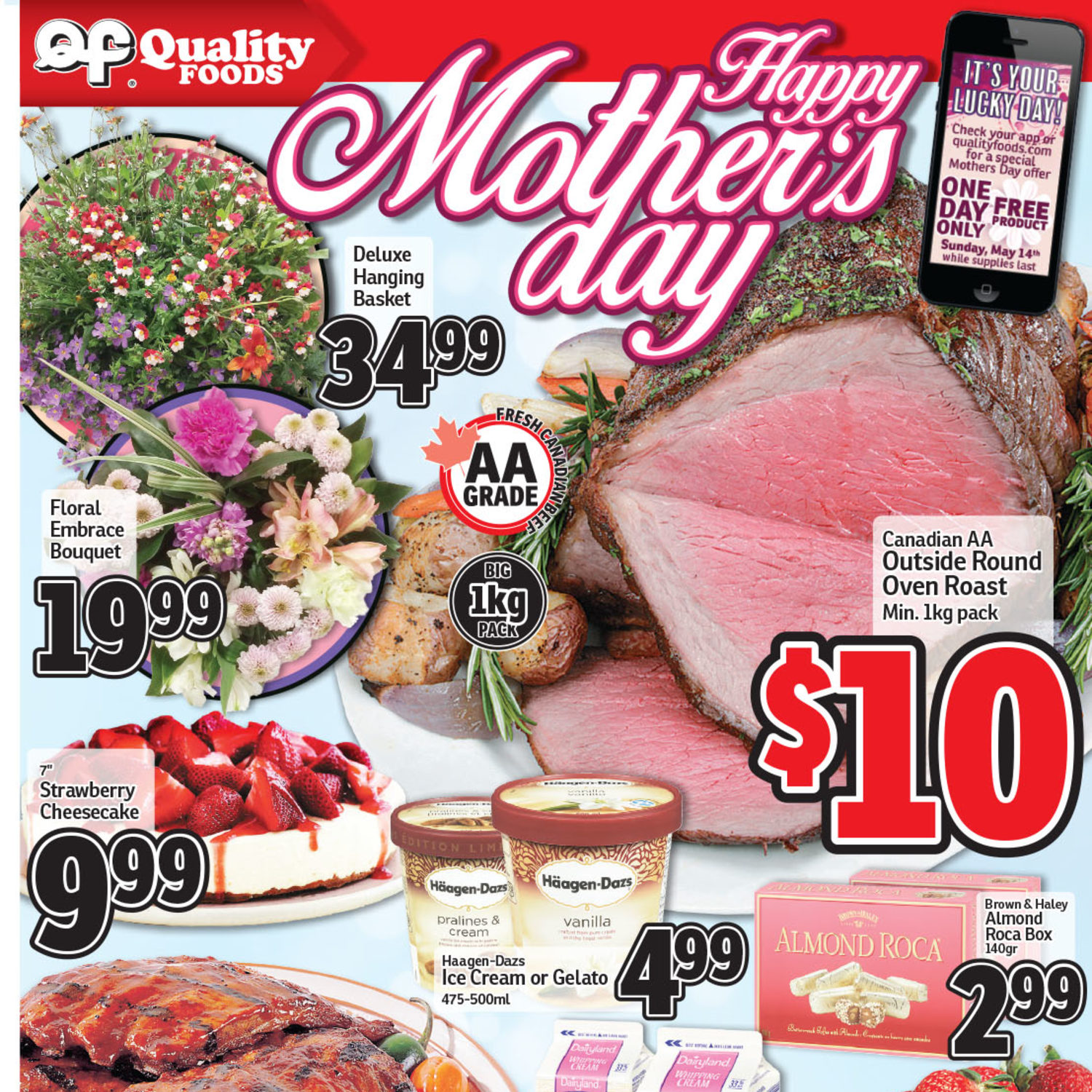 Quality Foods Weekly Flyer - Weekly Specials - Happy Mother's Day - May 8 – 14