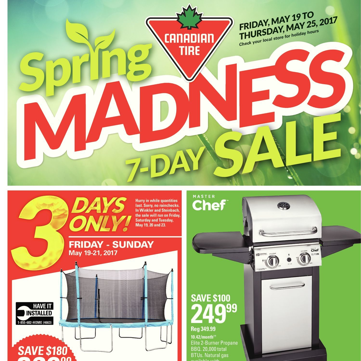Canadian Tire Weekly Flyer Spring Madness 7 Day Sale May 19 25 Trailer Wiring Harness Kit