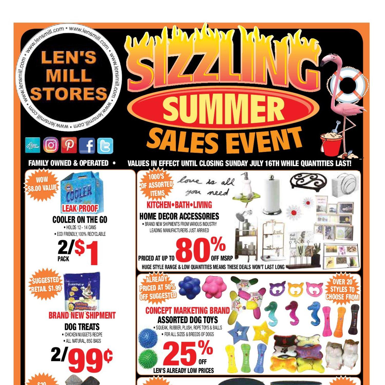 9e09987d5e4 Len s Mill Stores Weekly Flyer - Sizzling Summer Sales Event - Jul 4 – 16 -  RedFlagDeals.com