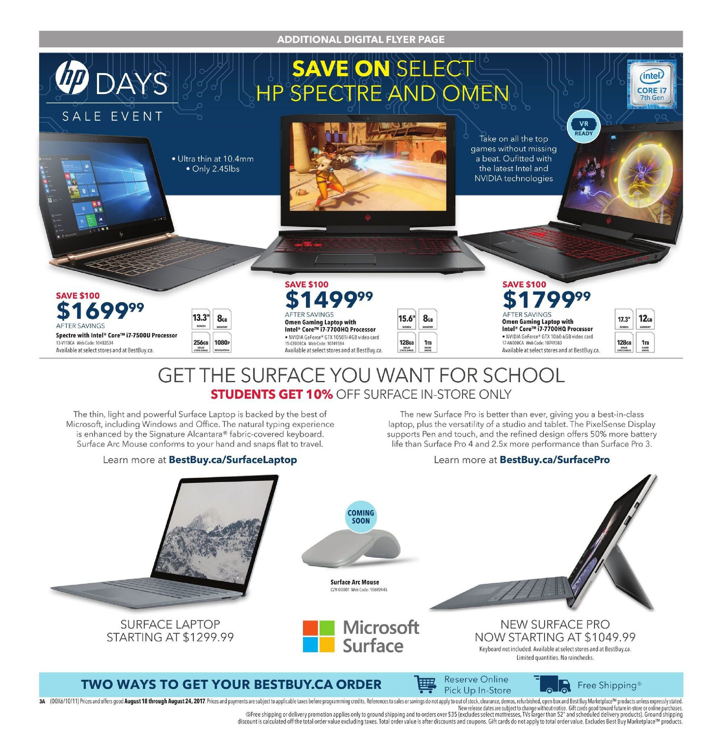 best buy weekly flyer weekly back to school savings aug 18 rh redflagdeals com