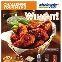 Wholesale Club - Challenge Your Menu - Wing It! Flyer