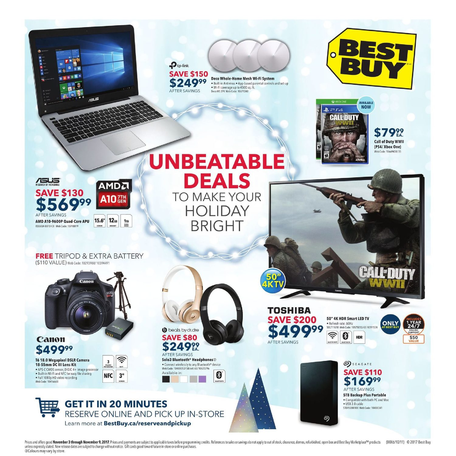 Best buy weekly flyer weekly unbeatable deals nov 3 9 best buy weekly flyer weekly unbeatable deals nov 3 9 redflagdeals fandeluxe Gallery