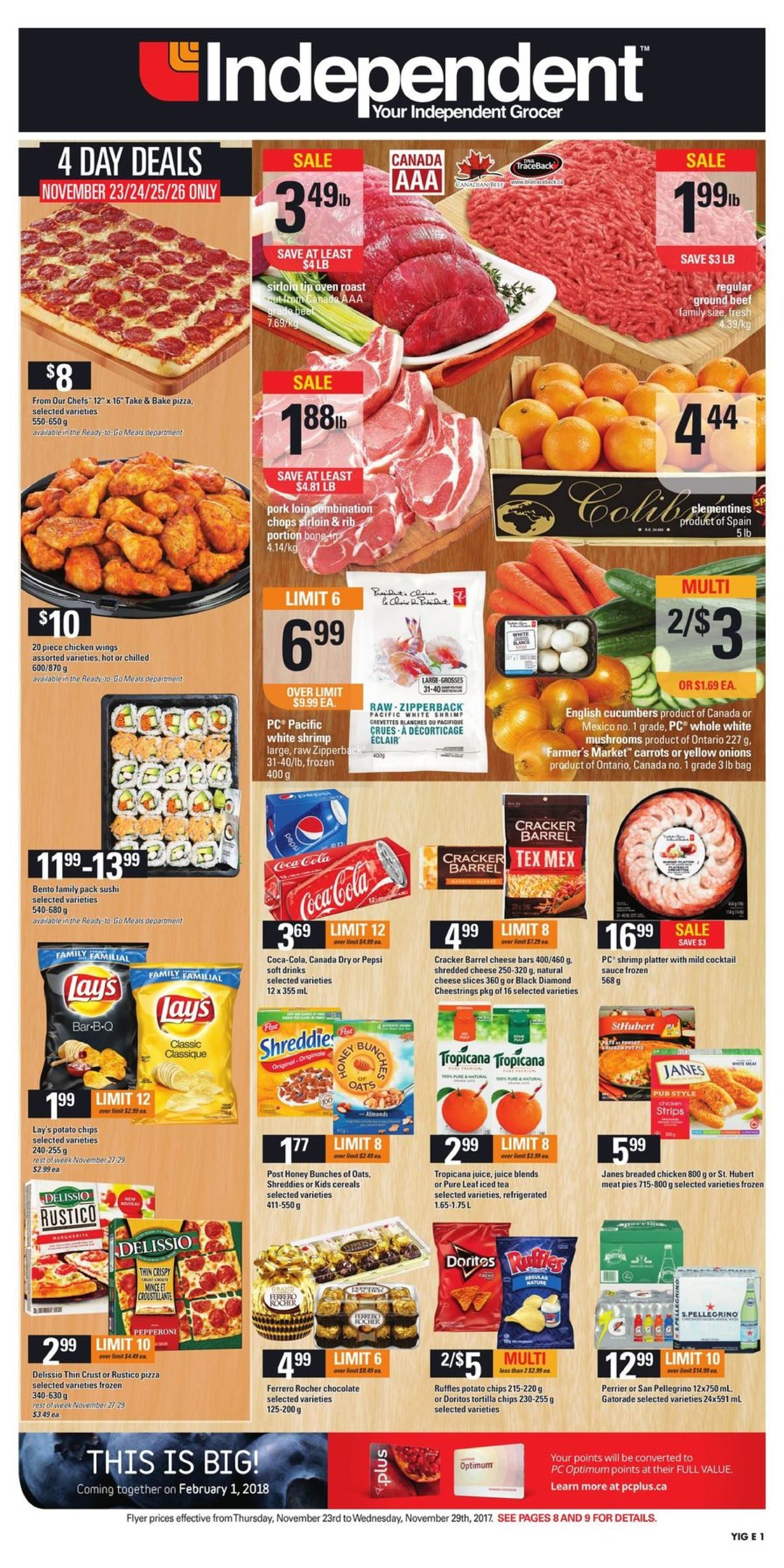 Your Independent Grocer Weekly Flyer - Weekly - Nov 23 – 29 ... on
