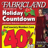 Fabricland - Holiday Countdown Flyer