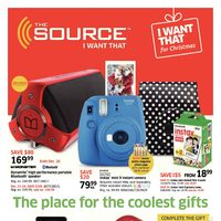 The Source - I Want That for Christmas - The Place for The Coolest Gifts Flyer