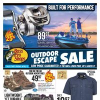 Bass Pro Shops - Outdoor Escape Sale Flyer