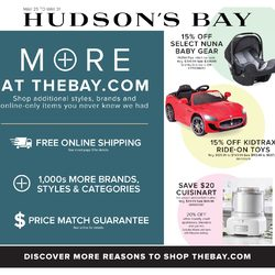 The Bay - More At TheBay.com Flyer