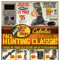 Bass Pro Shops - Vaughan - 2018 Fall Hunting Classic Flyer