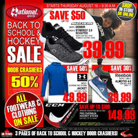 National Sports - Back to School & Hockey Sale Flyer