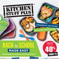Kitchen Stuff Plus - Back To School Made Easy Flyer