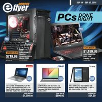 Newegg - PCs Done Right Flyer