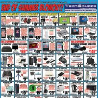 Tech Source - End of Summer Blowout! Flyer