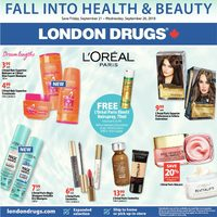 London Drugs - Fall Into Health & Beauty Flyer