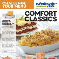 Wholesale Club - Challenge Your Menu - Comfort Classics Flyer
