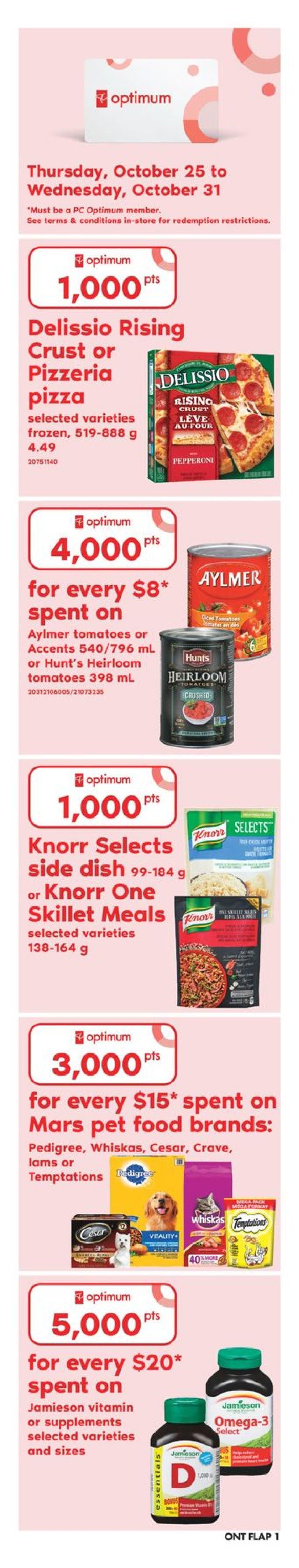 Zehrs Weekly Flyer Oct 25 31 Del Monte Sweet Chilli Sauce 340 Ml