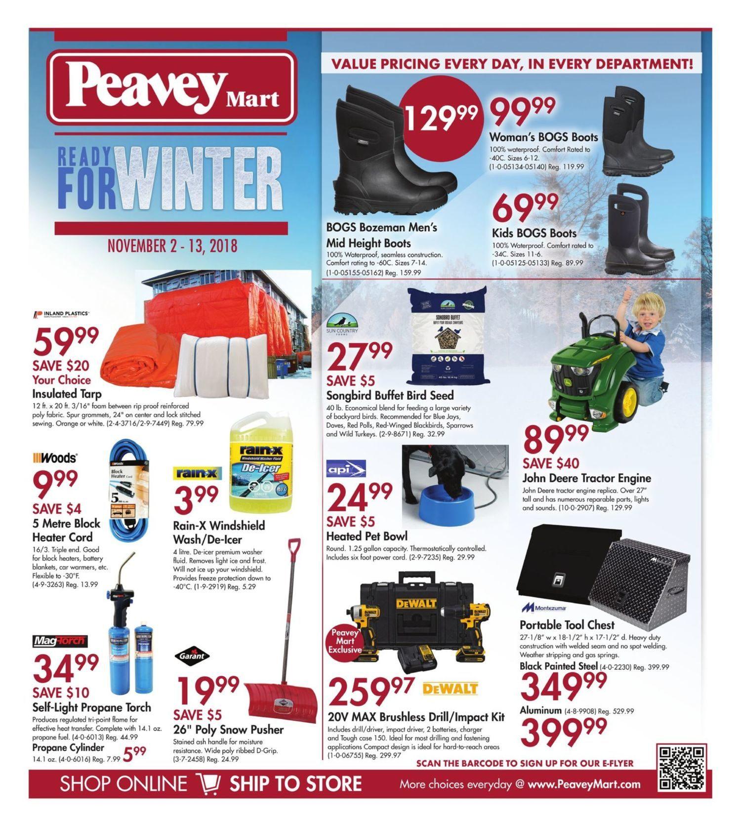 Peaveymart Weekly Flyer Ready For Winter Nov 2 13 Redflagdeals Com