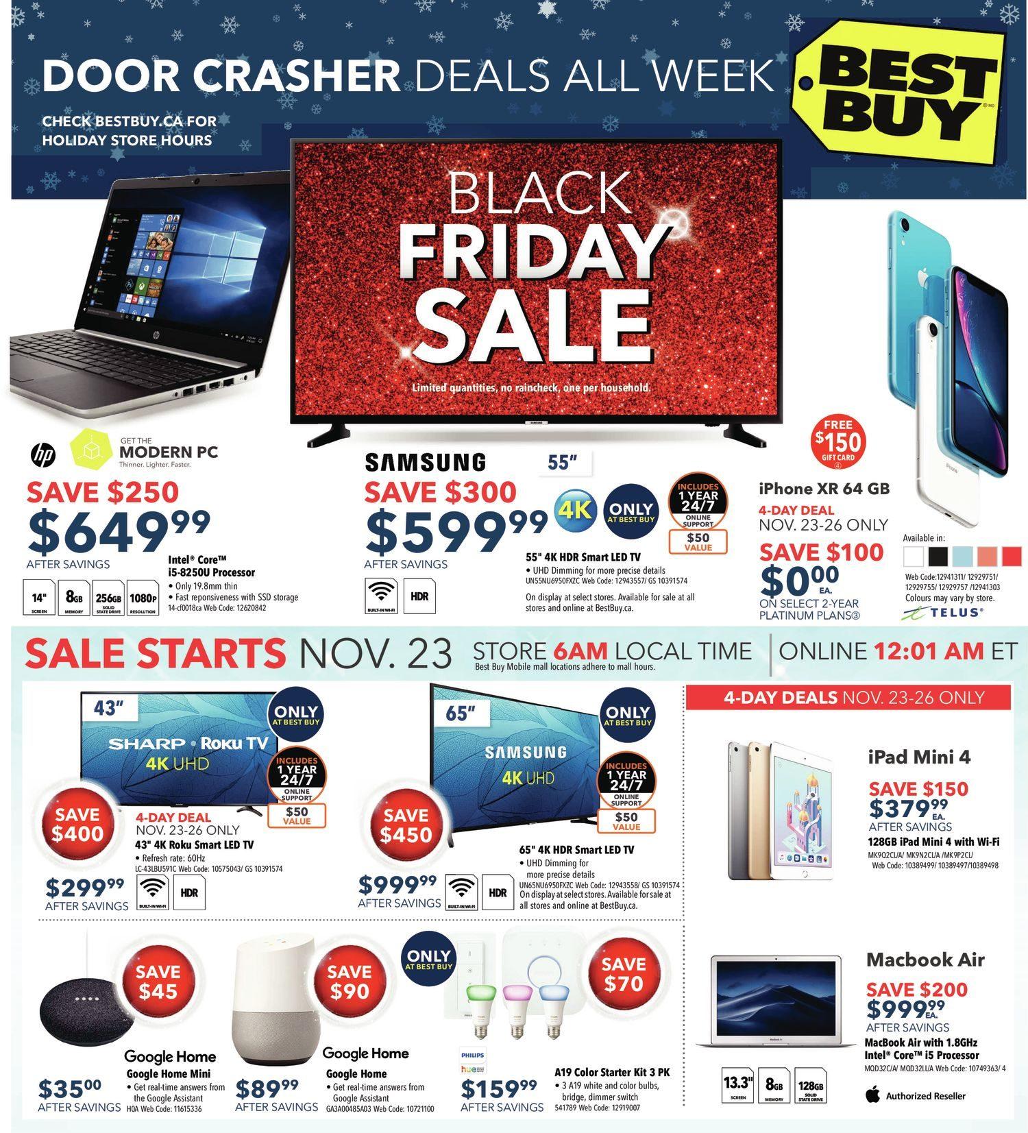 Best Buy Weekly Flyer Black Friday Sale Nov 23 29 Teac Wiring Color Code