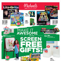 Michaels - Weekly - Make It Awesome With Screen Free Gifts! Flyer