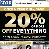 JYSK - Weekly - 20% Or More Off Everything Flyer