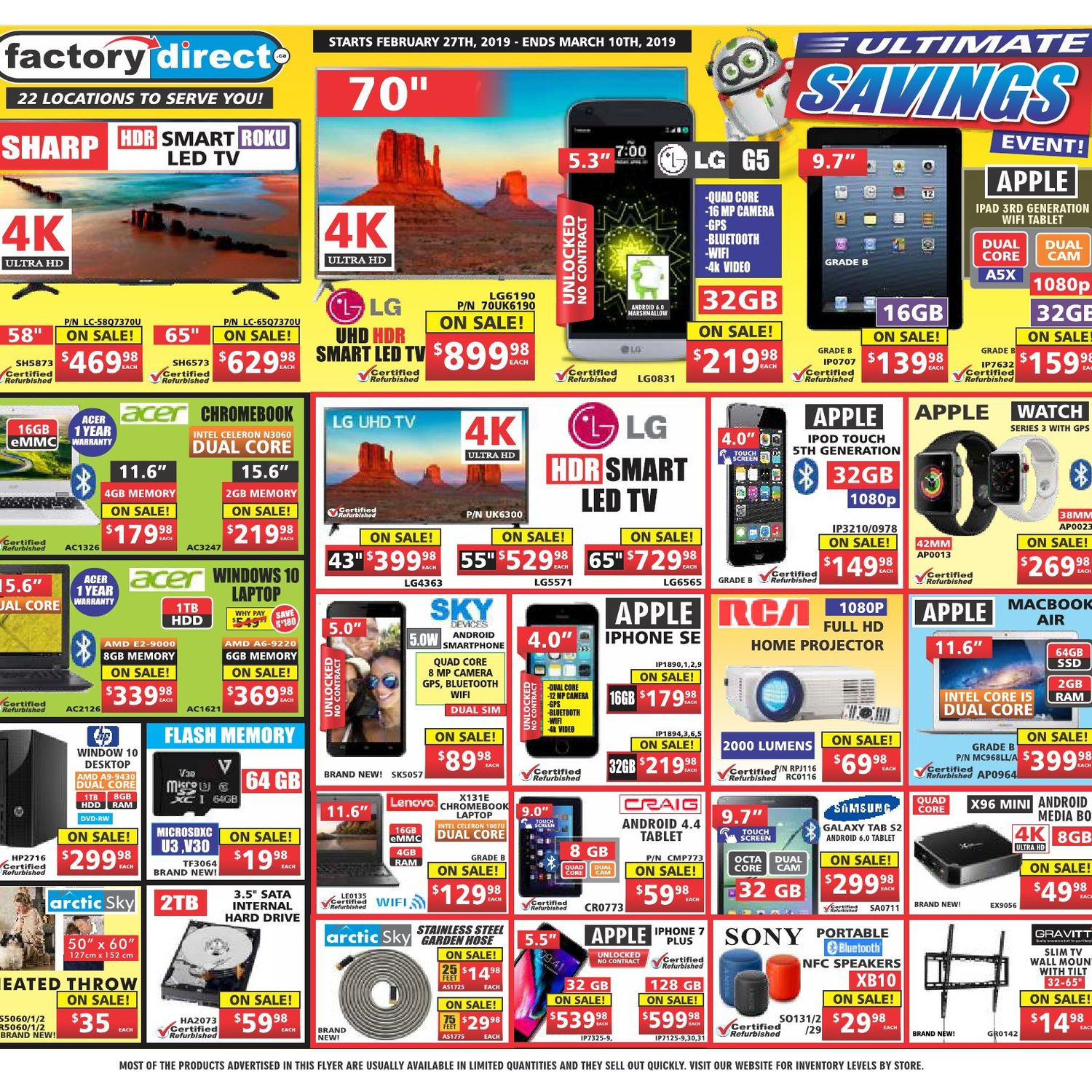 Factory Direct Weekly Flyer - Ultimate Savings Event! - Feb