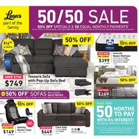 Leon's - Part of the Family - 50/50 Sale Flyer