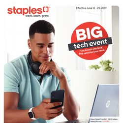 Staples - Tech Guide - Big Tech Event Flyer