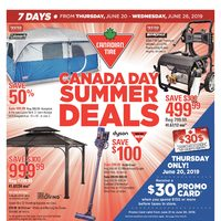 Canadian Tire - 7 Days of Savings - Canada Day Summer Deals Flyer