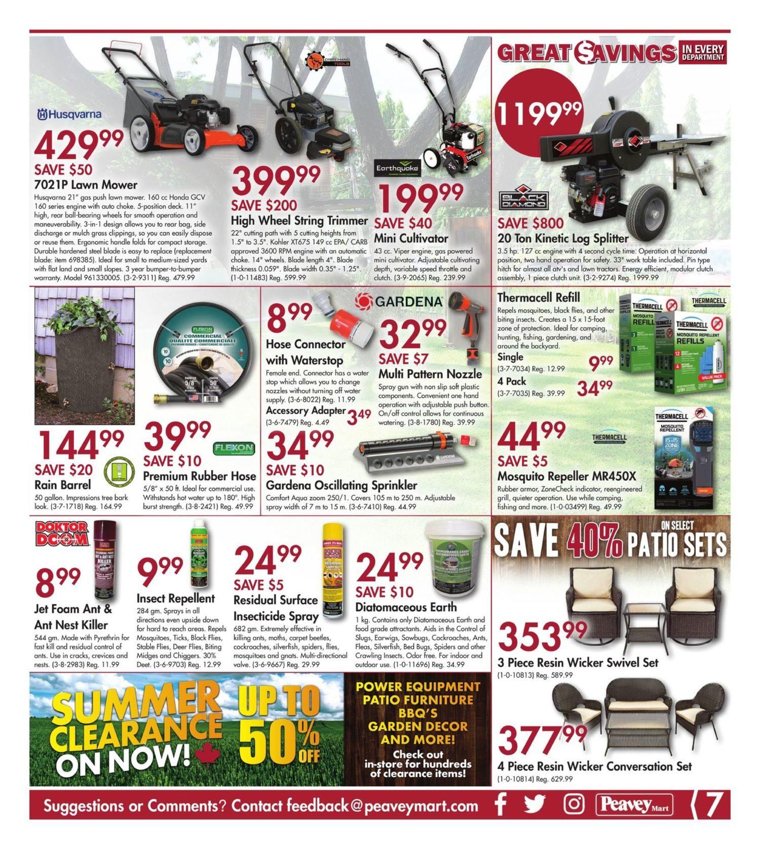 PeaveyMart Weekly Flyer - Hot Summer Savings - Jul 12 – 21