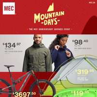 MEC - The MEC Anniversary Savings Event - Mountain Days Flyer