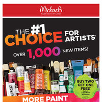 Michaels - Weekly - The #1 Choice For Artists Flyer