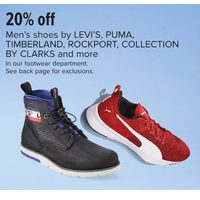 Levi's, Puma, Timberland, Rockport, Collection By Clarks Men's Shoes