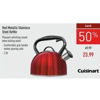 Cuisinart Red Metallic Stainless Steel Kettle