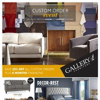 Gallery 1 Furniture - Custom Order Event Flyer