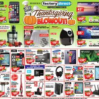 Factory Direct - Thanksgiving Blowout! Flyer