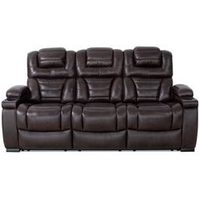 84'' Hugo Genuine Leather Power Reclining Sofa
