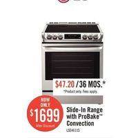 LG Slide-in Range With Probake Convection