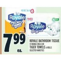 Royale Bathroom Tissue Or Tiger Towels