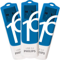 Philips Vivid 16GB USB 3.0 Flash Drive - 3 Pack