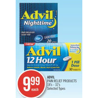 Advil Pain Relief Products