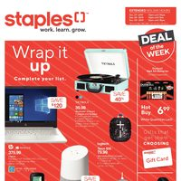 Staples - Weekly - Wrap It Up Flyer