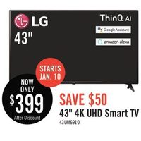 "LG 43"" 4K UHD Smart TV"