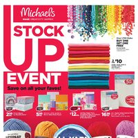 Michaels - Weekly - Stock Up Event Flyer
