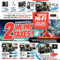Centre HIFI - Weekly - We Pay 2 Taxes! Flyer