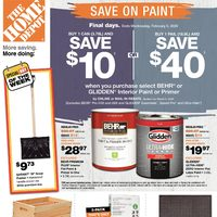 - Weekly - Save On Paint Flyer