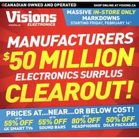 Visions Electronics - Weekly - $50 Million Clearout! Flyer