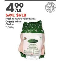 Fresh Yorkshire Valley Farms Organic Whole Chicken
