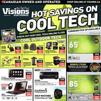 Visions Electronics - Weekly - Hot Savings On Cool Tech Flyer