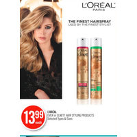 L'oreal Ever Or Elnett Hair Styling Products